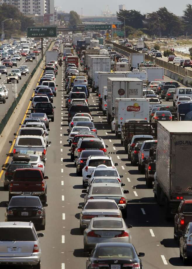 Driving in the breakdown lane to pass trafficWho does it more often: Men do this far more often than female drivers.The survey found 13 percent of men admitted to doing this. The survey found 8 percent of women did it. Photo: Carlos Avila Gonzalez, The Chronicle
