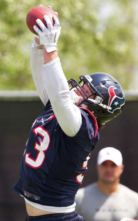 Texans rookie defensive end Jared Crick out of Nebraska has used training camp to develop into the fourth lineman. Photo: Brett Coomer, Staff / © 2013 Houston Chronicle