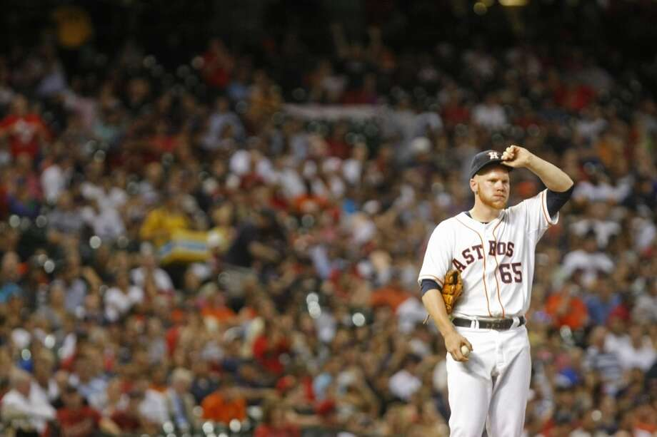 Astros pitcher Brett Oberholtzer while playing the Red Sox. Photo: Johnny Hanson, Houston Chronicle
