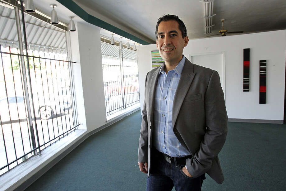 Richard Farias, board chair of the Pride Center, stands in the new facility location at 1910 Fredericksburg Road. Photo: Tom Reel / San Antonio Express-News