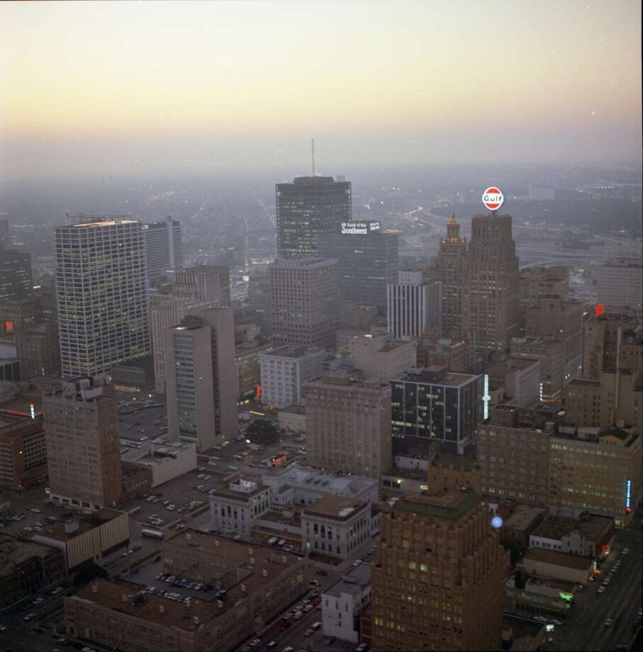 Looking west over downtown Houston.