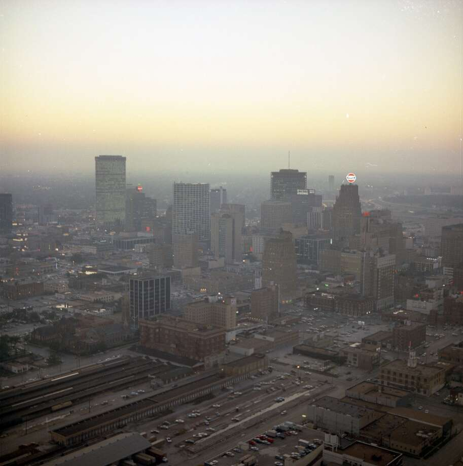 Minute Maid Park is in the foreground of this photo today. Photo: Chronicle File