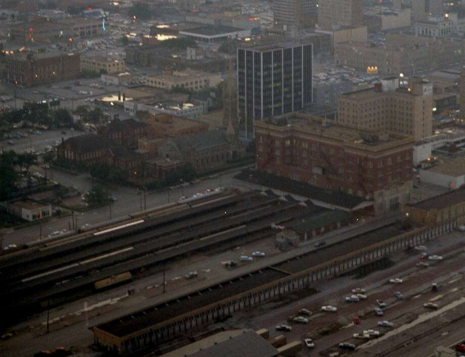Union Station. To the left of it is Annunciation Church. Photo: Houston Chronicle