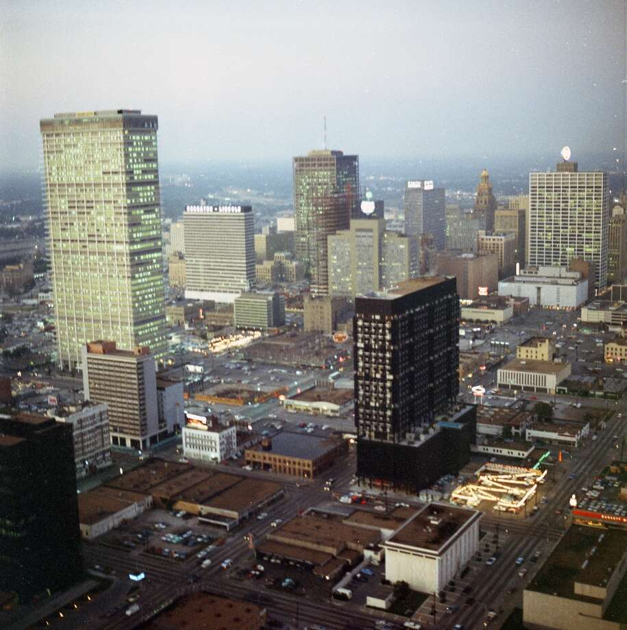 Looking north-northwest over downtown Houston. Photo: Chronicle File