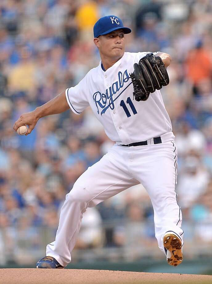 Jeremy Guthrie and the Royals' offense made sure that wasn't the case Monday night. Photo: John Sleezer, McClatchy-Tribune News Service