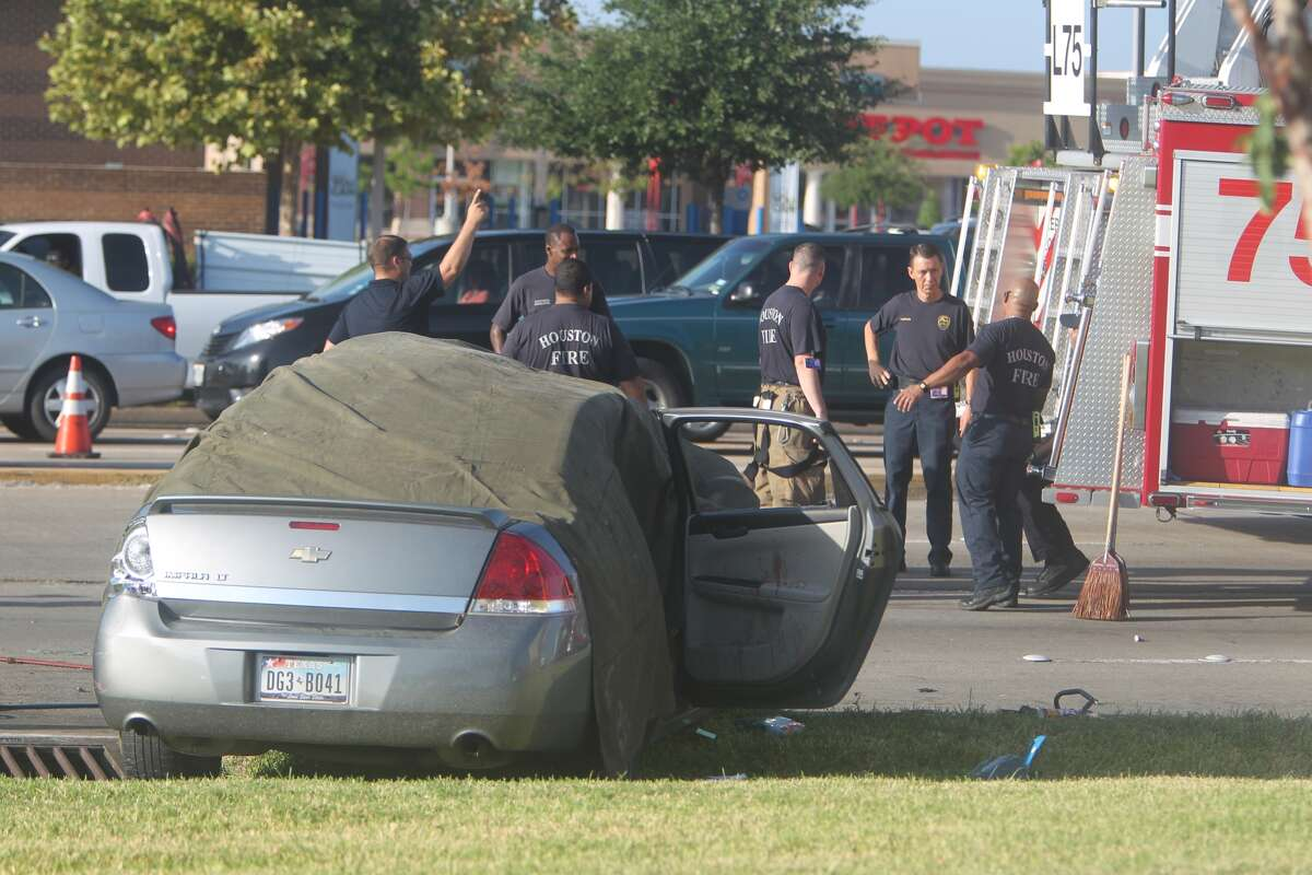 One person died in a traffic crash Tuesday morning in west Houston. The wreck happened about 7 a.m. on Westheimer near Eldridge Parkway, according to the Houston Police Department. (Mayra Beltran / Houston Chronicle)