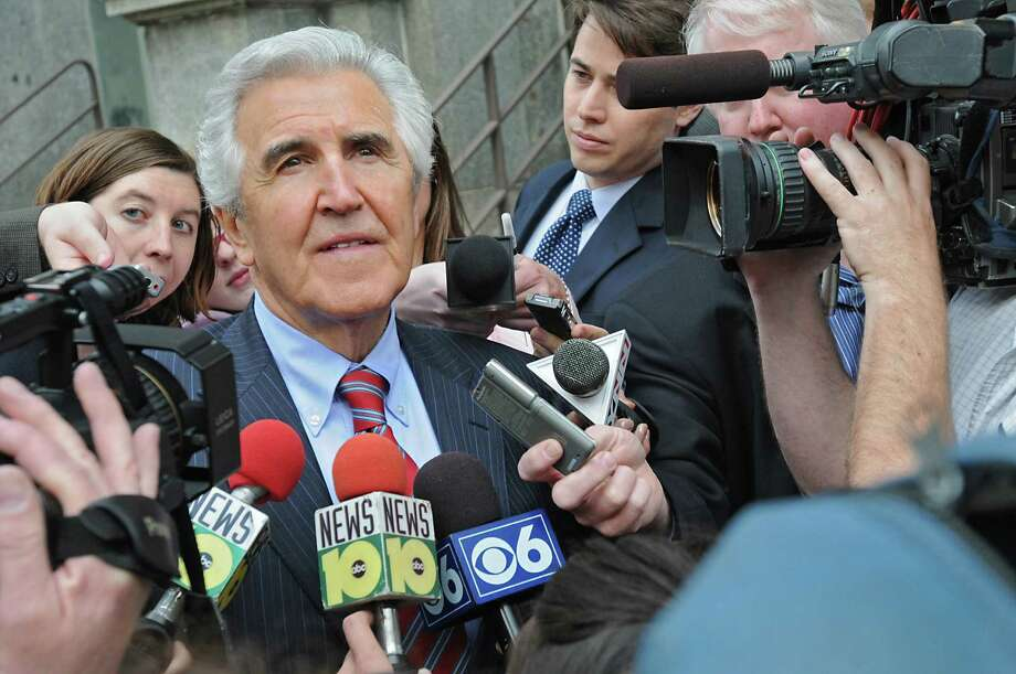Former state Senate Majority Leader Joseph L. Bruno is surrounded by press as he walks to Jack's Oyster House following his sentencing May 6, 2010, at the  James T. Foley U.S. Courthouse in Albany, N.Y.  (Lori Van Buren / Times Union archive) Photo: LORI VAN BUREN / 00008609B