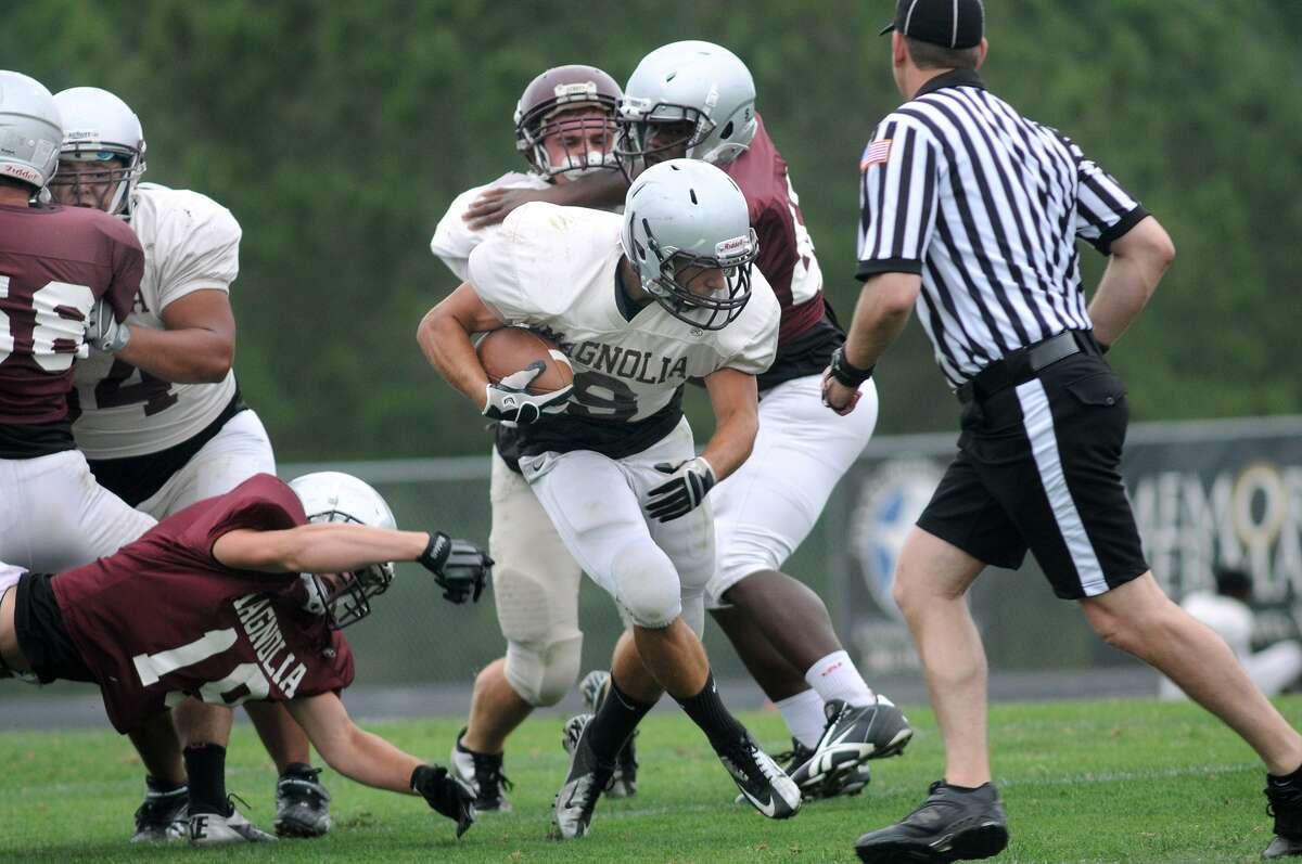 Magnolia running back John Grunkemeyer is part of a trio of backs for the Bulldogs.