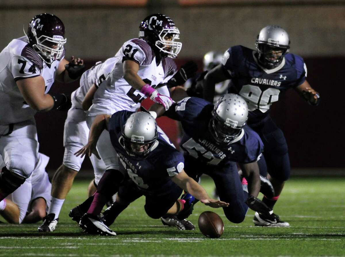 College Park defensive lineman Jayvon Jackson, (57) is among the returning defensive players for the Cavaliers.