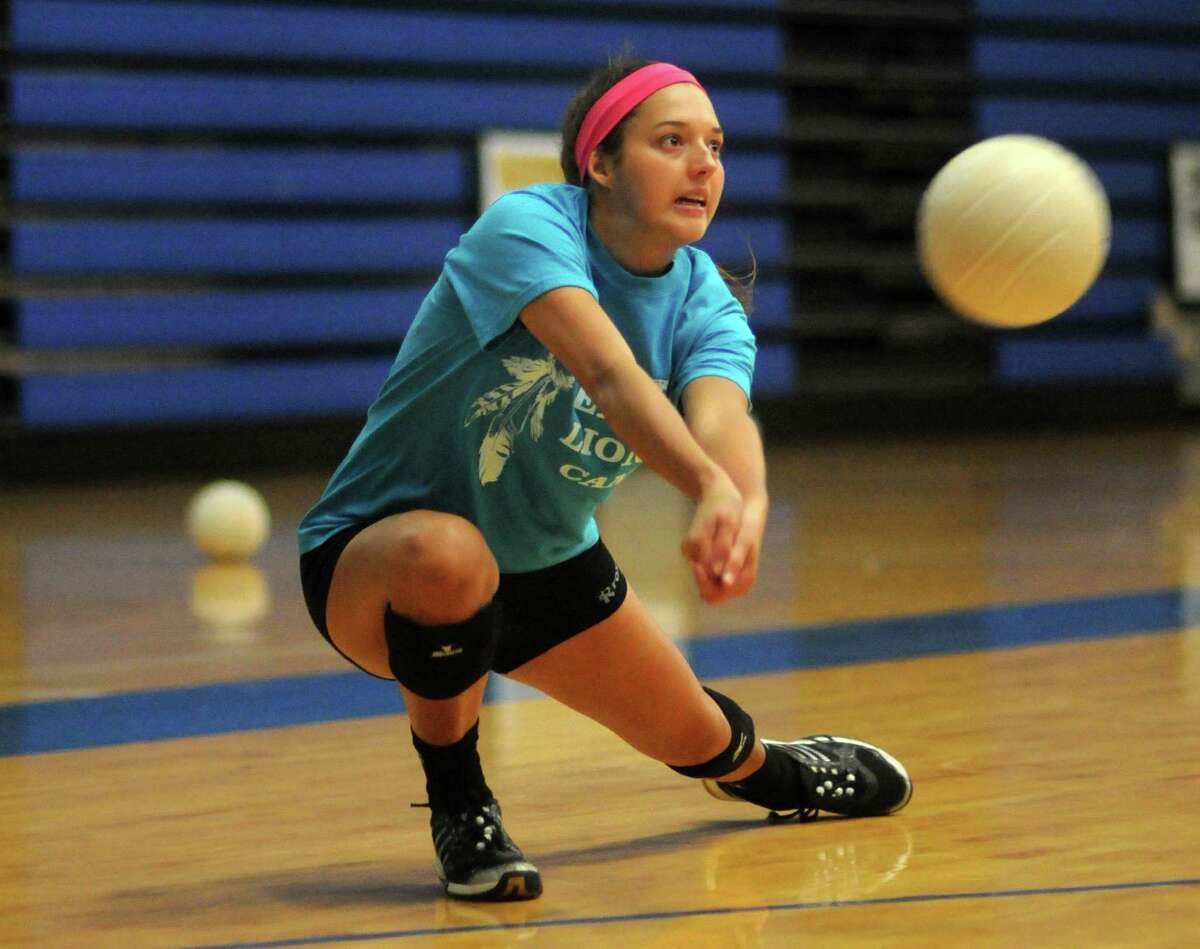 Clear Springs senior Megan Haynes works to make a pass during the team's recent practice session.