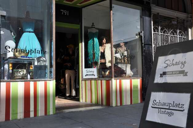 """San Francisco  Schauplatz: As Valencia has changed, Schauplatz has remained one of the best shops on the street for mid-priced vintage for both sexes. The boutique sells mainly '60s and later fashions and has a rotating """"other"""" rack for miscellaneous pajama sets, mechanic onesies, unisex jumpsuits and other oddities. Midcentury home decor hot spot Schatzi in the back of the boutique is a welcome addition this year. 791 Valencia St., (415) 864-5665. Photo: Courtesy Of Schauplatz"""
