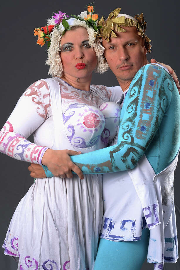 Natasha Pareshkina and Kirill Semin of Confused In Syracuse, who said that if they were not performing at the Edinburgh Fringe Festival they would be doing their show back in St Petersburg, pose on August 6, 2013 in Edinburgh, Scotland. The city is in full swing with hundreds of entertainers attending the Edinburgh Fringe Festival which runs from the 2 -26 August and is one of the largest arts festivals in the world, dating back to 1947. Photo: Jeff J Mitchell, Getty Images / 2013 Getty Images
