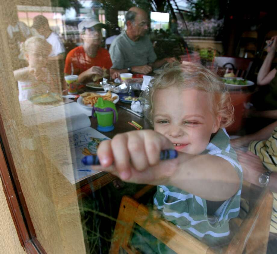 Amazon Grill on Kirby offers cotton candy as a special treat on its kids menu. Photo: Sharon Steinmann, Houston Chronicle