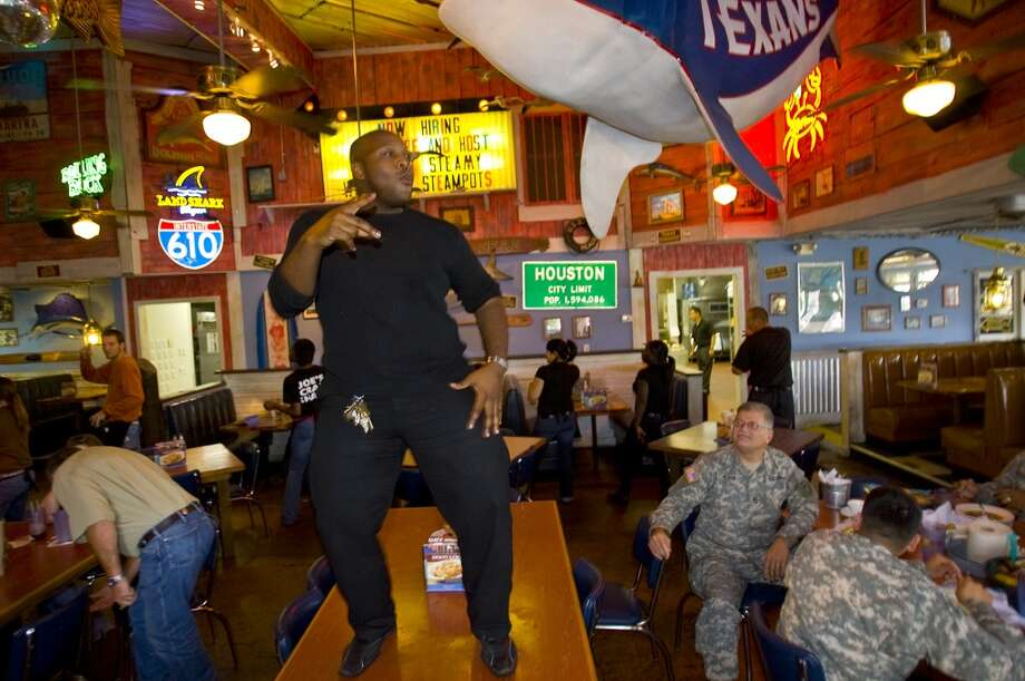 "And we can't forget Joe's Crab Shack, where the kids can play outside and the waiters dance on the tables. We're going to go ahead and say any place with the word ""shack"" in the name is probably kid-friendly. Photo: Karen Warren, Houston Chronicle"