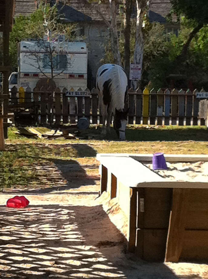 Natachee's no longer has the horse, but they still have the play area for kids. Photo: Seven Twenty Five,