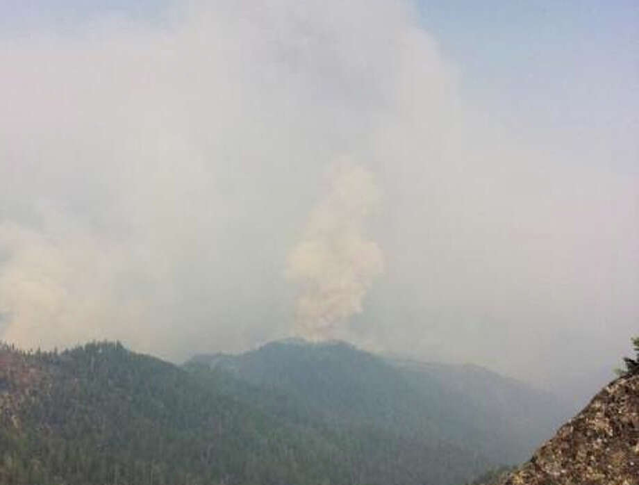 Smoke billows into area near the Marble Mountain Wilderness Area Photo: Dan Pearson