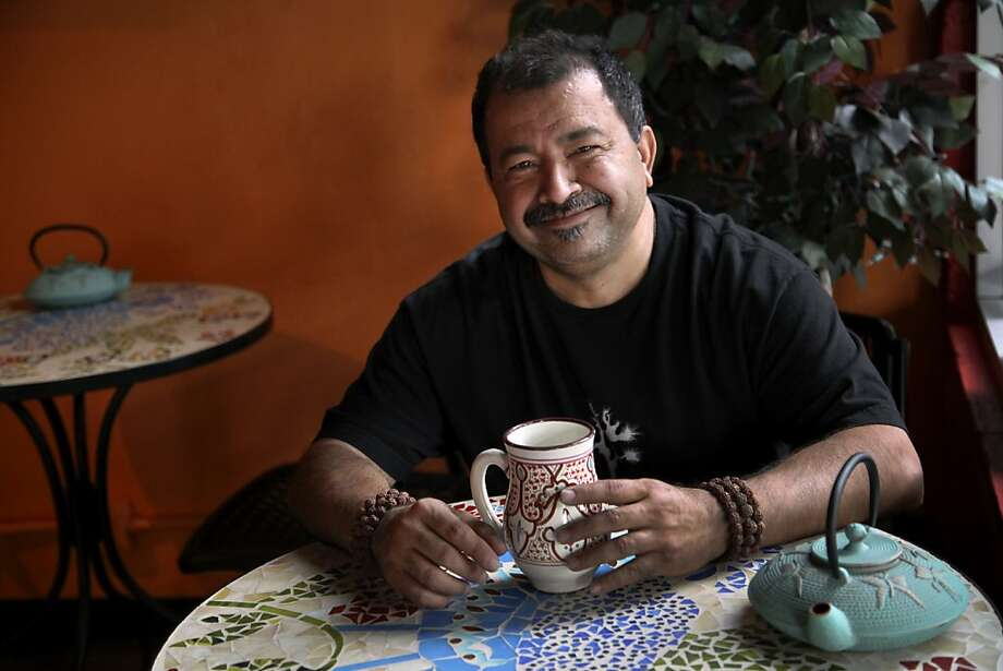 """Bombay"" Nick Sabharwal strives for authenticity in the chai spice blends that he and his wife, Paula, grind, mix and brew at Bombay Nick's Chai bar, an oasis in a shopping center in Livermore. Photo: Preston Gannaway, Special To The Chronicle"