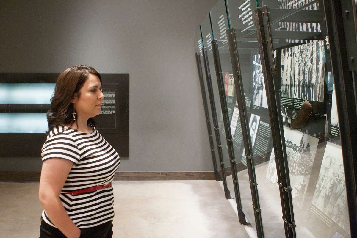 Cy-Fair resident and Klein Forest High teacher Cynthia Carr visits the Holocaust Museum Houston, where she went to expand her interest in teaching students about the Holocaust. She was awarded a scholarship to study the subject at Columbia University.