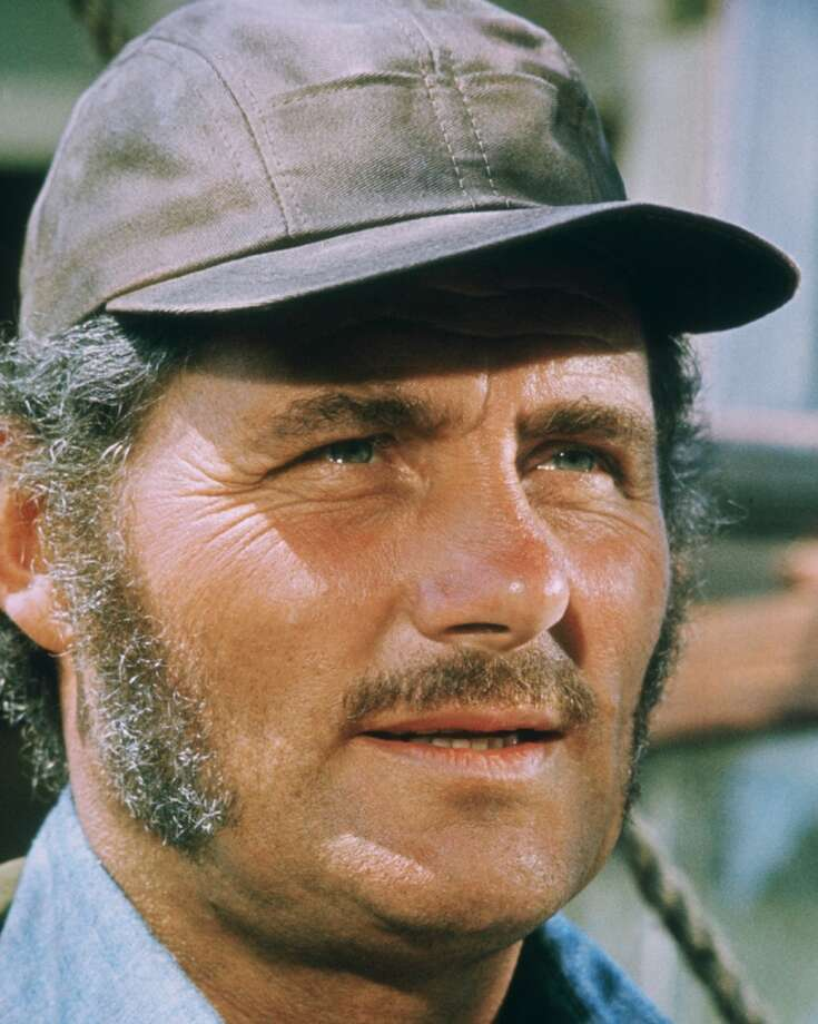 Robert Shaw (1927-1978), British actor, wearing a peaked cap in a publicity portrait issued for the film, 'Jaws', USA, 1975. The thriller, directed by Steven Spielberg, starred Shaw as 'Quint'. Photo: Getty Images