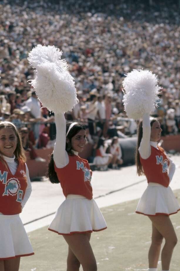 Cheerleaders for the Miami Dolphins in 1972. Photo: Kidwiler Collection, Diamond Images/Getty Images