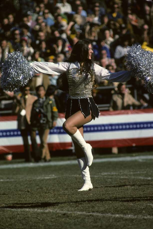 A Raiderette cheerleader in 1975. Photo: Diamond Images, Diamond Images/Getty Images