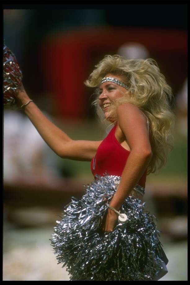 An Atlanta Falcons cheerleader in 1989 Photo: Allen Steele, Getty Images
