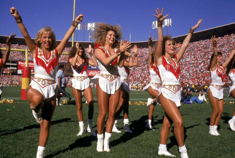 The 49ers Cheerleaders in 1990 Photo: George Rose, Getty Images