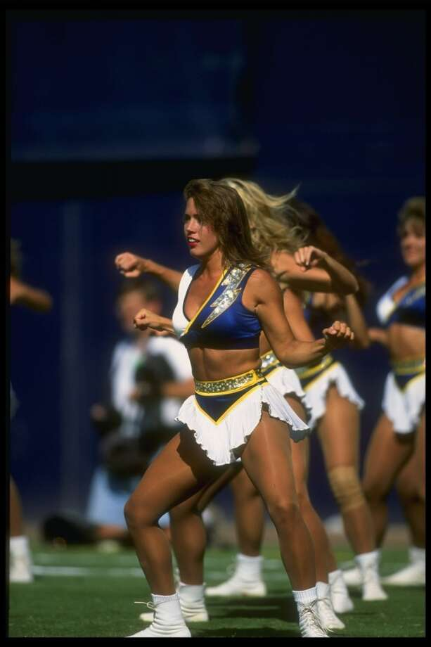San Diego Chargers cheerleaders in 1992. Photo: Mike Powell, Getty Images