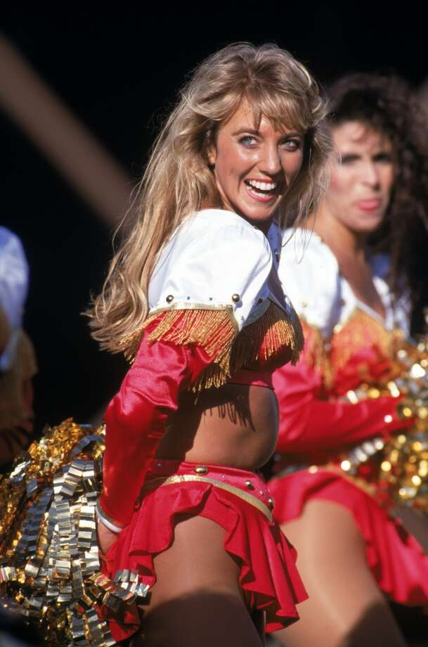 The 49ers Cheerleaders in 1992. Photo: George Rose, Getty Images