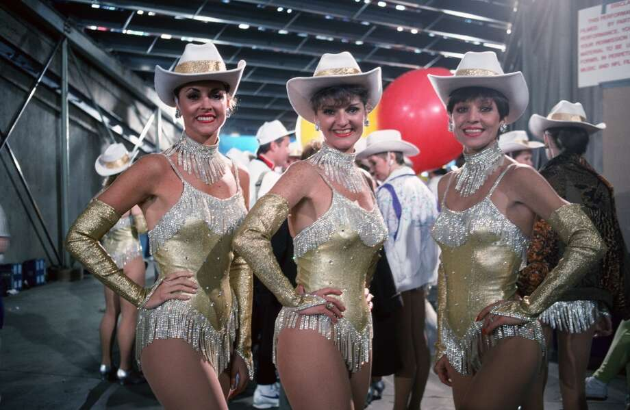Dallas Cowboys cheerleaders, in a different outfit for once, in 1993. Photo: George Rose, Getty Images