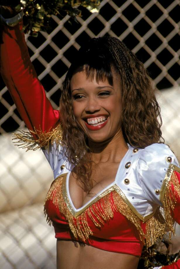 A 49ers cheerleader in 1994. Photo: George Rose, Getty Images