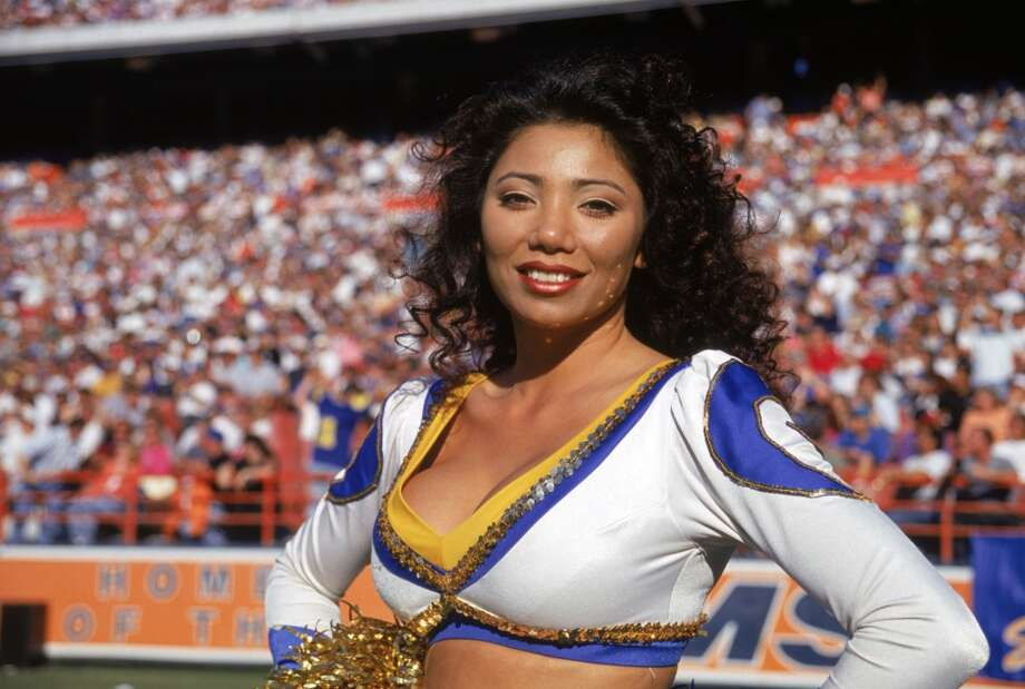 A Rams cheerleader in 1994. Photo: George Rose, Getty Images