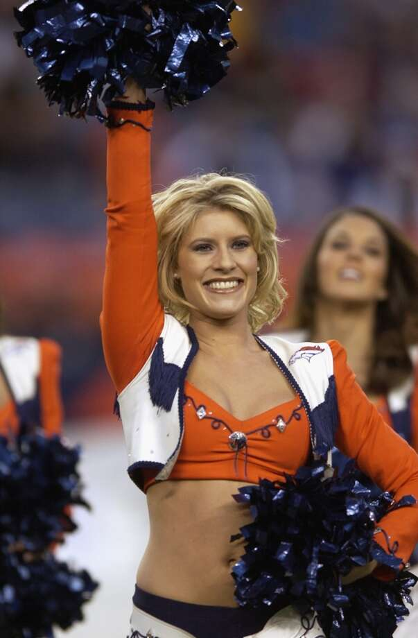 Denver Broncos cheerleader in 2002. Photo: Josh Merwin, Getty Images
