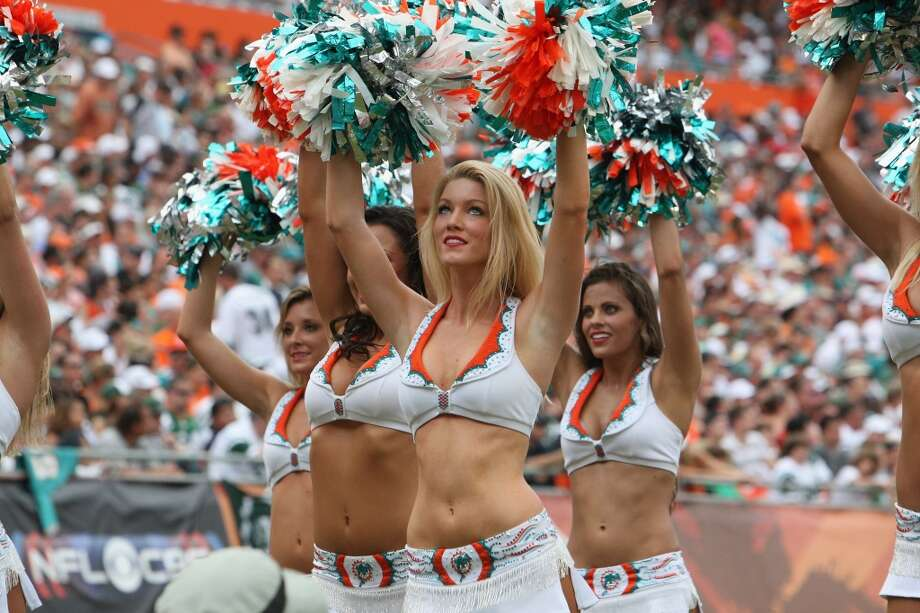 Miami Dolphins Cheerleaders  in 2012. Photo: Al Pereira, Getty Images