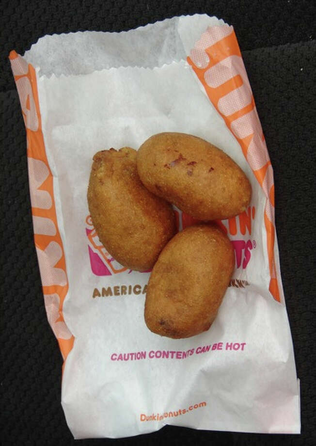 Dunkin' Donuts pancake sausage bites: Think pig-in-a-blanket, but bite size and made at a restaurant with no real kitchen. (Photo by theimpulsivebuy via Flickr) Photo: Theimpulsivebuy Via Flickr