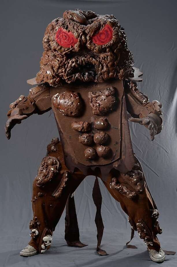 """Thanks for the warning, Ben:Ben Adwick, also known as the """"Gargantuan Poo Monster,"""" announced that if he does not attend Scotland's Edinburgh Fringe Festival, he would appear as another bodily emission creature somewhere else. Photo: Jeff J Mitchell, Getty Images"""