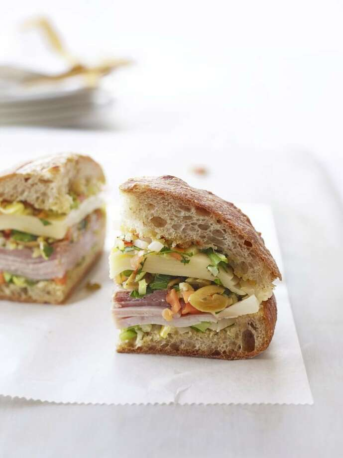 Good Housekeeping recipe for Muffulettas. Photo: Con Poulos