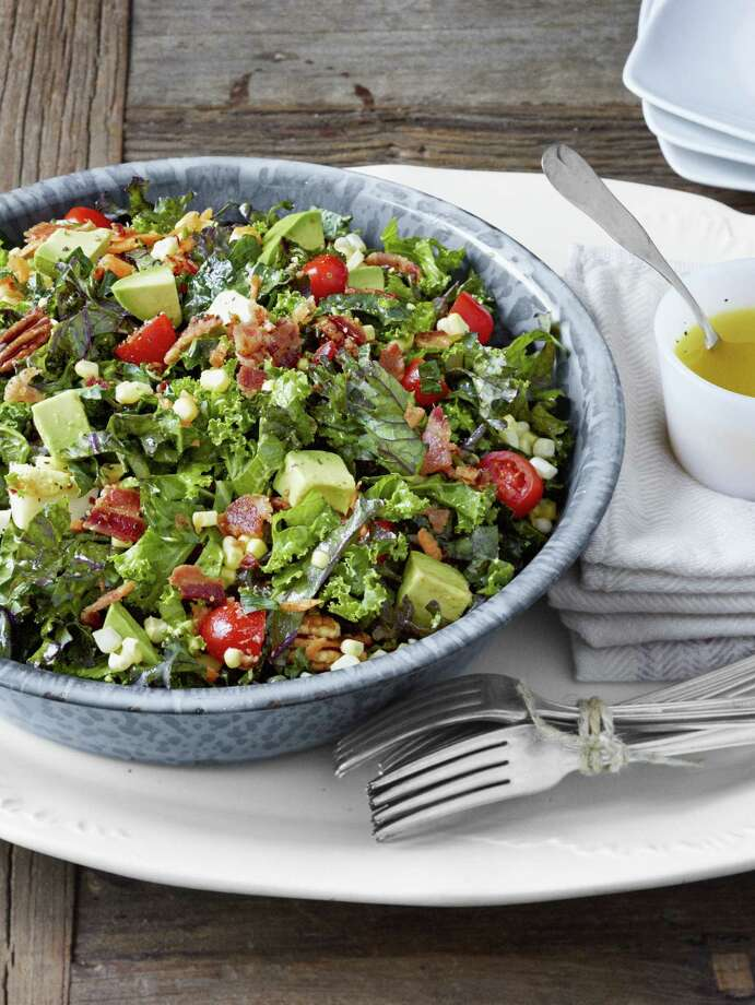 Country Living recipe for Chopped Collard and Kale Salad with Lemon-Garlic Dressing. Photo: John Kernick