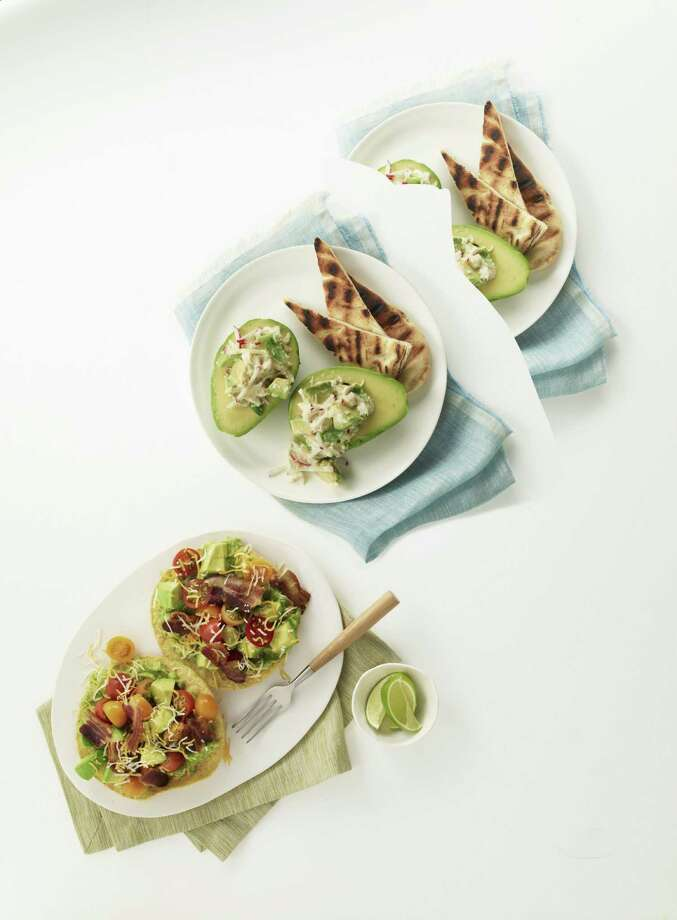 Redbook recipe for Avocados with Lemony Crab Salad. Photo: William Brinson