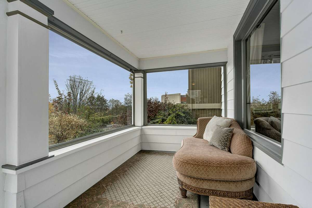 Enclosed front porch of 2005 23rd Ave. W. It's listed for $589,000.