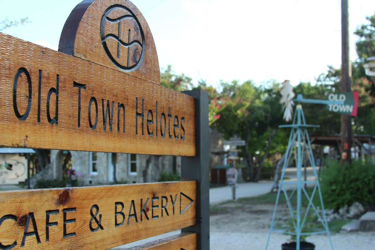Signs point the way to Old Town Helotes. The city is considering a new grant program to give small businesses in the city help with marketing, websites and interior design.