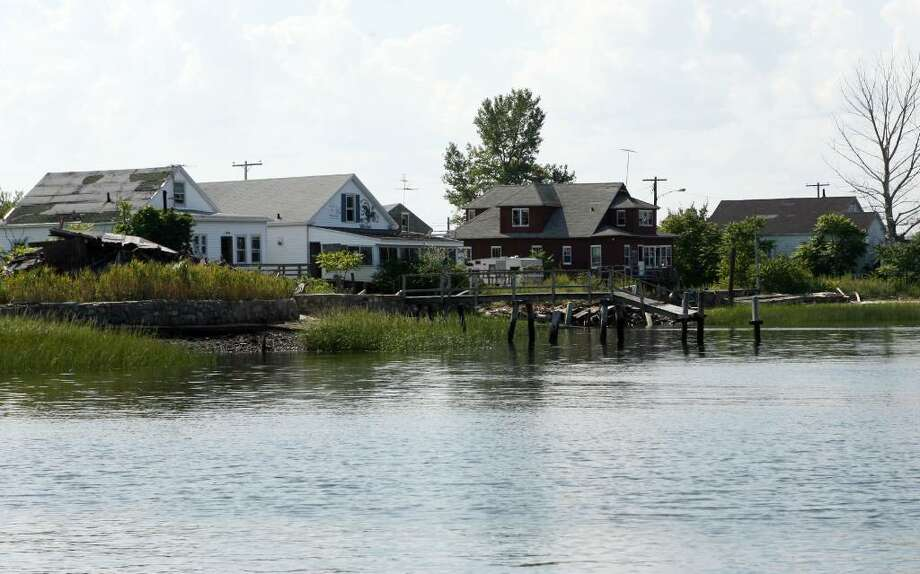 The cottages on Pleasure Beach West, in Stratford, Conn. last September. Photo: B.K. Angeletti / Connecticut Post