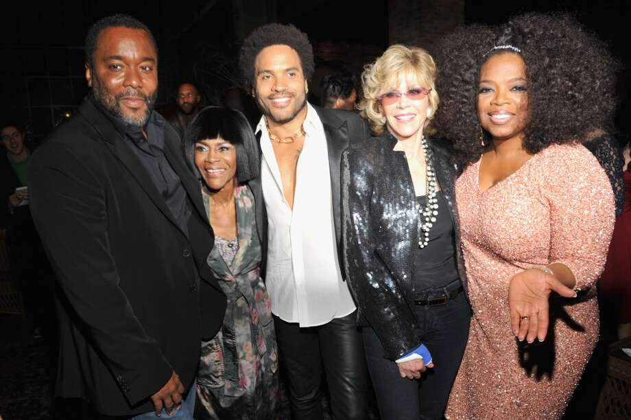 "NEW YORK, NY - AUGUST 05:  (L-R) Lee Daniels, Cicely Tyson, Lenny Kravitz, Jane Fonda and Oprah Winfrey attend Lee Daniels' ""The Butler"" New York premiere, hosted by TWC, DeLeon Tequila and Samsung Galaxy on August 5, 2013 in New York City.  (Photo by Kevin Mazur/Getty Images for Samsung) Photo: Getty Images For Samsung"