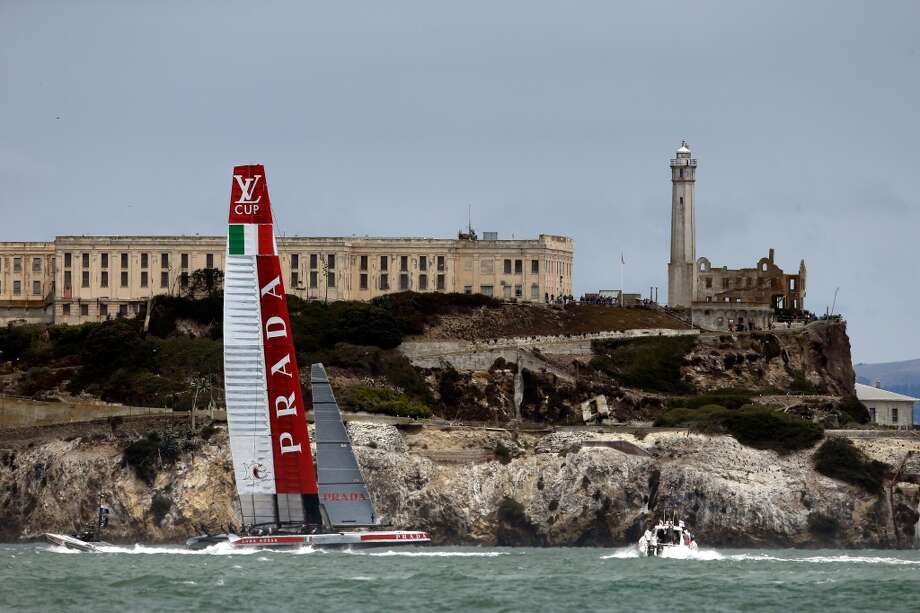 Luna Rossa Challenge skippered by Massimiliano Sirena in action against Team Artemis Racing during race one of the Louis Vuitton Cup semi final on August 6. The winner of the Louis Vuitton Cup goes on to race against Oracle Team USA in the America's Cup Finals that start on September 7. Photo: Ezra Shaw, Getty Images