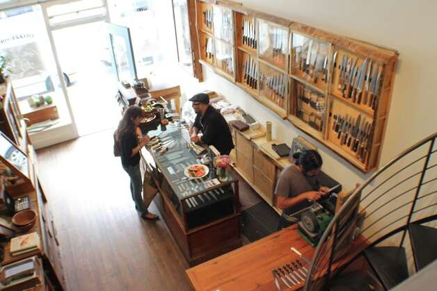 """San Francisco Bernal Cutlery: For anything and everything knife-related - Japanese knives that could pass as art, pocket knives, French oyster shuckers, antique carving sets suitable for """"Downton Abbey,"""" knife sharpening and a battery of knife skills classes - this is the cutting edge. 593 Guerrero St., (415) 902-6531. www.bernalcutlery.com. Photo: Courtesy Of Bernal Cutlery"""