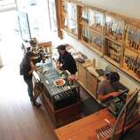 """San Francisco Bernal Cutlery: For anything and everything knife-related - Japanese knives that could pass as art, pocket knives, French oyster shuckers, antique carving sets suitable for """"Downton Abbey,"""" knife sharpening and a battery of knife skills classes - this is the cutting edge. 593 Guerrero St., (415) 902-6531. www.bernalcutlery.com."""