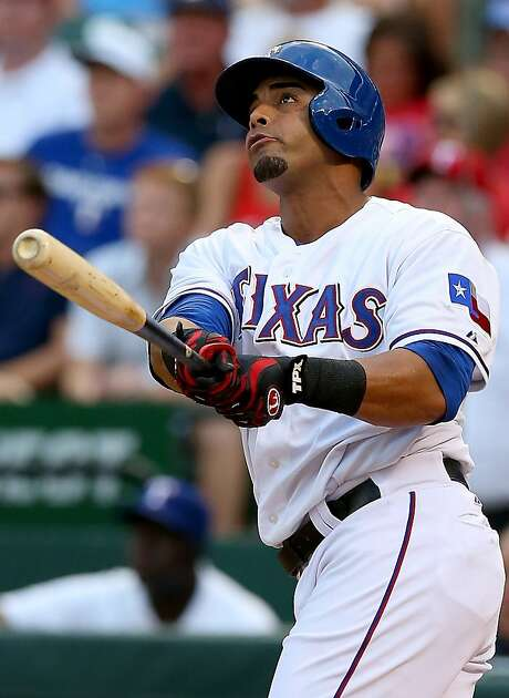 Nelson Cruz led Texas in home runs (27) and RBIs (76) when he was suspended. Photo: Ronald Martinez, Getty Images