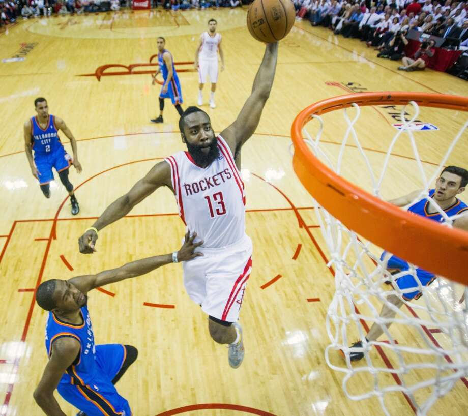 Jan. 16 vs. Thunder 8:30 p.m. TV: TNTJames Harden and the Rockets host the Thunder for the first time since Game 6 of their 2013 first round playoff series. Photo: Smiley N. Pool, Chronicle
