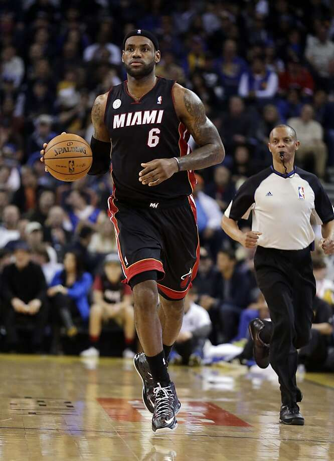 The Warriors will host LeBron James and the Miami Heat on Feb. 12. Photo: Marcio Jose Sanchez, Associated Press