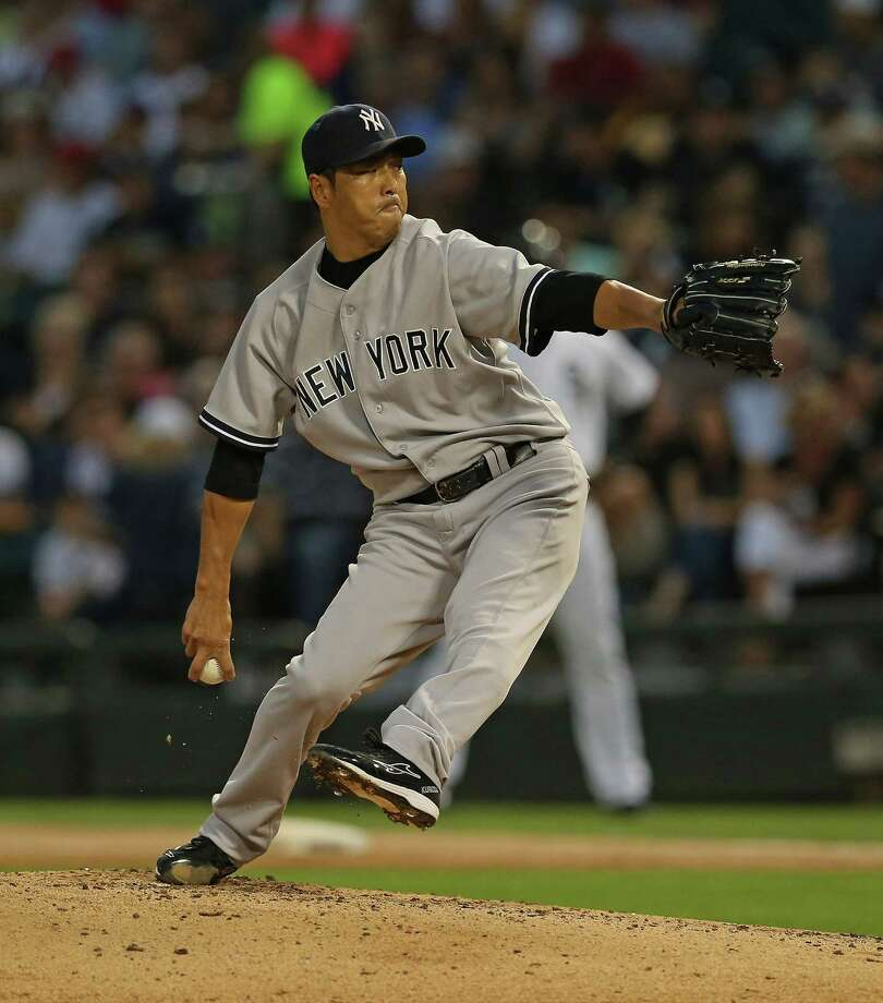 CHICAGO, IL - AUGUST 06:  Starting pitcher Hiroki Kuroda #18 of the New York Yankees delivers the ball against the Chicago White Sox at U.S. Cellular Field on August 6, 2013 in Chicago, Illinois.  (Photo by Jonathan Daniel/Getty Images) ORG XMIT: 163494883 Photo: Jonathan Daniel / 2013 Getty Images